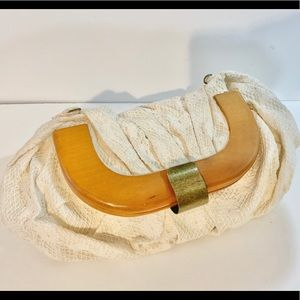 Zara Crocheted/lace clutch